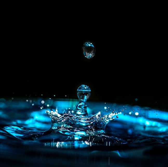 Water droplet photography